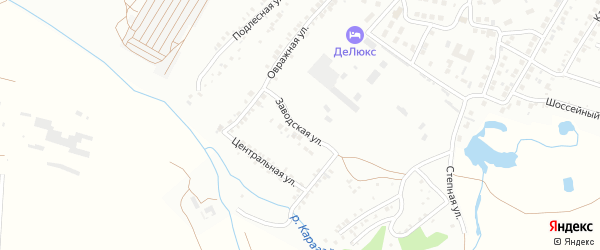 Заводская улица на карте Кумертау с номерами домов