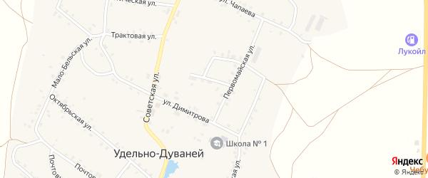 Молодежная улица на карте села Удельно-Дуванея с номерами домов