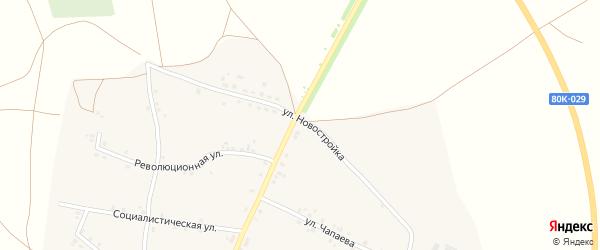 Улица Новостройка на карте села Удельно-Дуванея с номерами домов