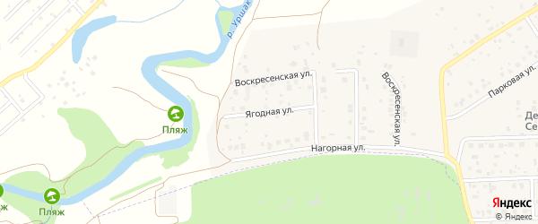 Ягодная улица на карте села Булгаково с номерами домов