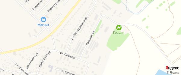 Рабочая улица на карте села Миловки с номерами домов