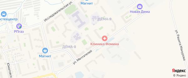 Улица Генерала Кусимова на карте Уфы с номерами домов