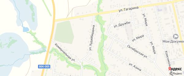Улица Худайбердина на карте села Верхние Татышлы с номерами домов