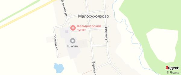 Верхняя улица на карте села Малосухоязово с номерами домов