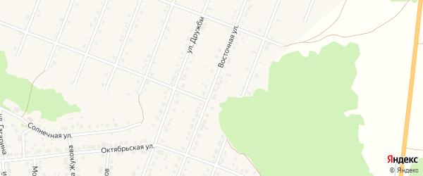 Восточная улица на карте села Ермолаево с номерами домов