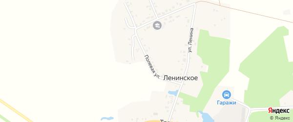 Полевая улица на карте Ленинского села с номерами домов