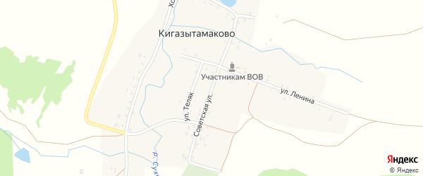 Советская улица на карте деревни Кигазытамаково с номерами домов