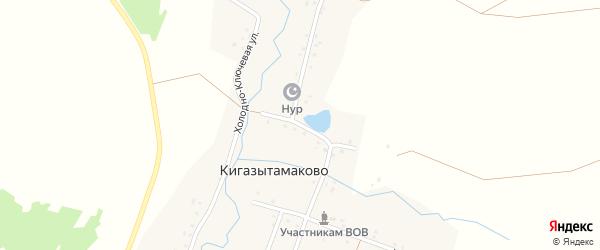 Кооперативная улица на карте деревни Кигазытамаково с номерами домов