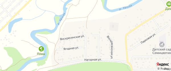 Воскресенская улица на карте села Булгаково с номерами домов