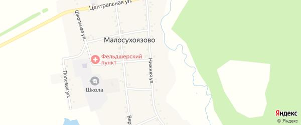 Нижняя улица на карте села Малосухоязово с номерами домов