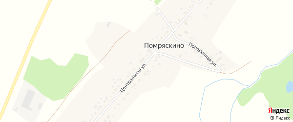Центральная улица на карте села Помряскино с номерами домов