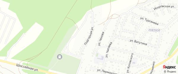 Подгорная улица на карте Кумертау с номерами домов