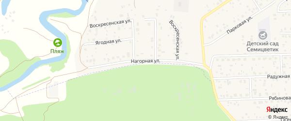 Нагорная улица на карте села Булгаково с номерами домов