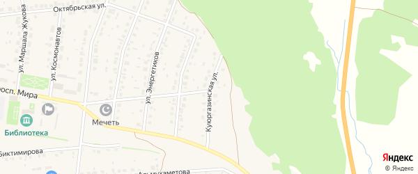 Куюргазинская улица на карте села Ермолаево с номерами домов