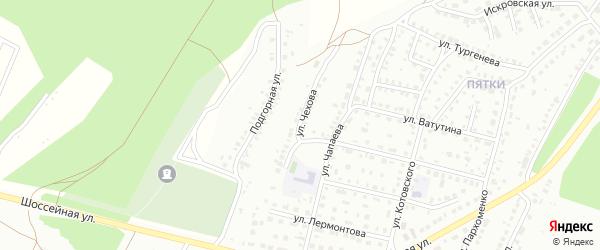 Улица Чехова на карте Кумертау с номерами домов