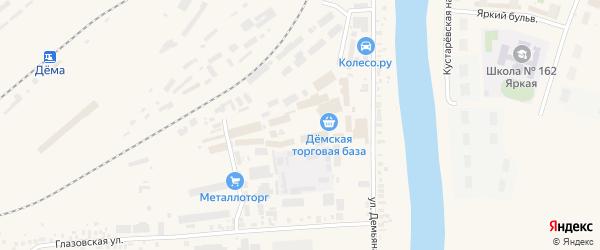 Улица Вахтангова на карте Уфы с номерами домов