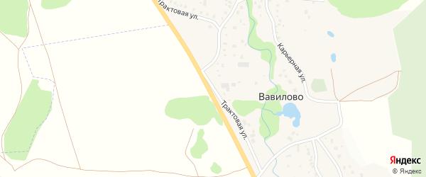 Трактовая улица на карте деревни Вавилово с номерами домов