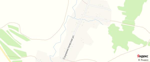 Социалистическая улица на карте деревни Кигазытамаково с номерами домов