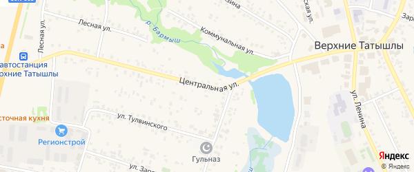 Центральная улица на карте села Верхние Татышлы с номерами домов