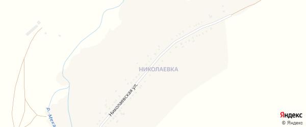 Николаевская улица на карте Троицкого села с номерами домов