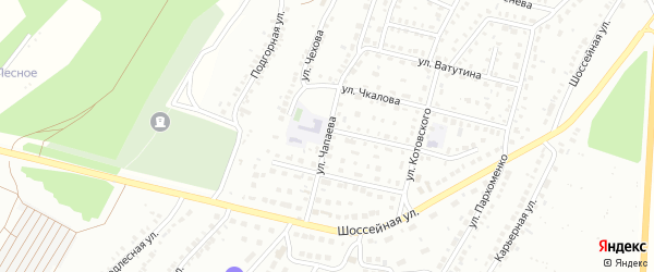 Улица Чапаева на карте Кумертау с номерами домов
