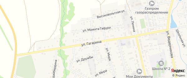 Улица Дружбы на карте села Верхние Татышлы с номерами домов