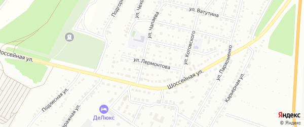 Улица Лермонтова на карте Кумертау с номерами домов