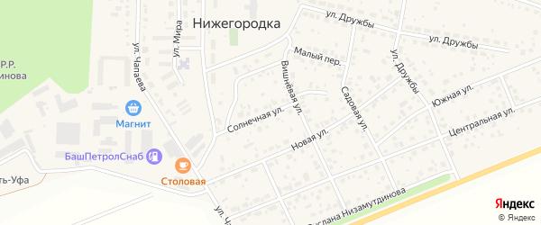 Солнечная улица на карте села Нижегородки с номерами домов