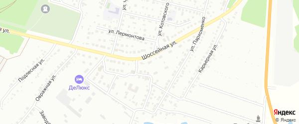 Массив 12 Шоссейная улица на карте Кумертау с номерами домов