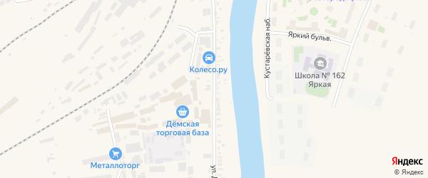 Улица Демьяна Бедного на карте Уфы с номерами домов