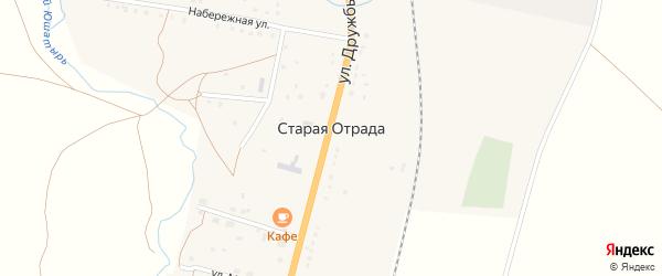 Улица Мира на карте села Старой Отрады с номерами домов