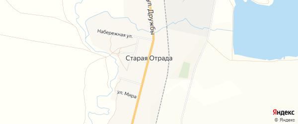 Карта села Старой Отрады в Башкортостане с улицами и номерами домов