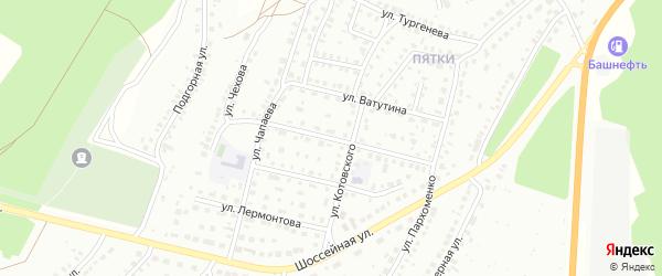 Улица Чкалова на карте Кумертау с номерами домов