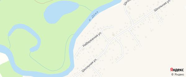 Набережная улица на карте села Нижегородки с номерами домов