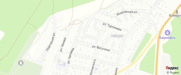 Переулок Котовского на карте Кумертау с номерами домов