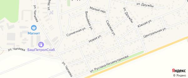 Новая улица на карте села Нижегородки с номерами домов