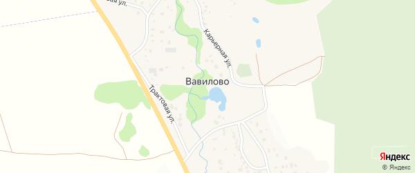 Лесная улица на карте деревни Вавилово с номерами домов
