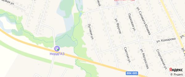 Луговая улица на карте села Верхние Татышлы с номерами домов