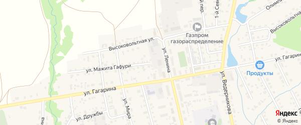 Улица М.Гафури на карте села Верхние Татышлы с номерами домов