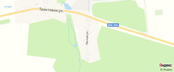 Лесная улица на карте Ленинского села с номерами домов
