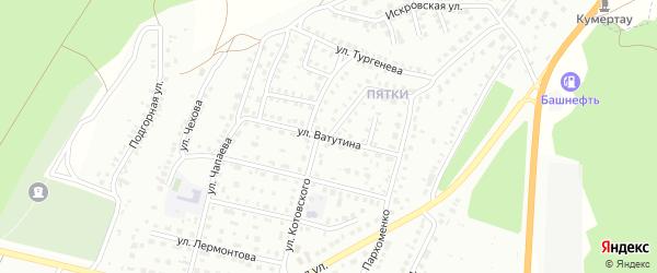 Улица Котовского на карте Кумертау с номерами домов