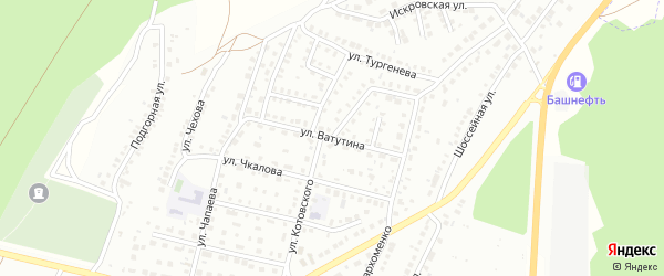 Улица Ватутина на карте Кумертау с номерами домов