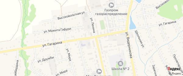 Улица Гагарина на карте села Верхние Татышлы с номерами домов