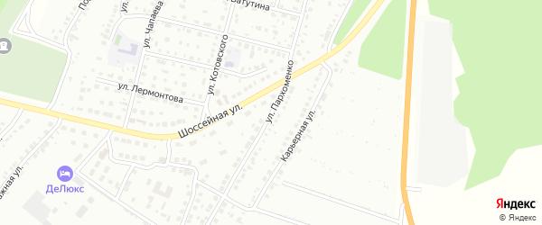 Улица Пархоменко на карте Кумертау с номерами домов