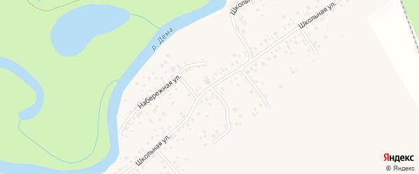 Школьная улица на карте села Нижегородки с номерами домов
