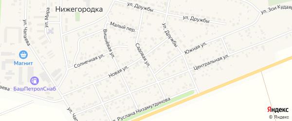 Садовая улица на карте села Нижегородки с номерами домов