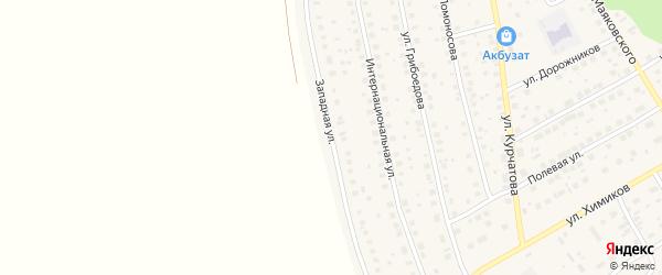 Западная улица на карте села Толбазы с номерами домов