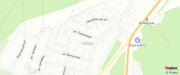 Улица Тургенева на карте Кумертау с номерами домов