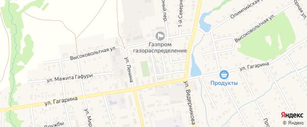 Переулок Гагарина на карте села Верхние Татышлы с номерами домов
