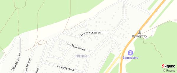 Искровский 2-й переулок на карте Кумертау с номерами домов